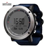 Wholesale hour hand men - NORTH EDGE Men Sports Watch Altimeter Barometer Compass Thermometer Hand Clock Watches Digital Hours Running Climbing Wristwatch