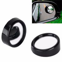 rückspiegel blinde flecken großhandel-1 Paar Neueste Weitwinkel Konvexen Auto Blind Spot Runde Seitenansicht Rückspiegel