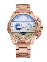 Wholesale shark sport watch black - Top Brand Sport Stainless Steel Watches Business Casual watch multi functional 6 bar brand watch men