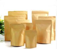 Wholesale packing nuts - DHL 2000Pcs10*15cm Zip Lock Kraft Paper Aluminum Foil Retail Packaging Pack Pouch, Ziplock Powder Nuts Bean Food Package Bags