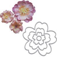 Wholesale Flower Card Craft - Metal Cutting Dies Flowers Stencils DIY Scrapbooking Die Cuts Album Paper Cards Decor Crafts Embossing Templates Cutting Tools