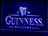 bira logosu levhaları toptan satış-A002b-Guinness Vintage Logolar Bira Bar LED Neon Işık Burcu USB on / off anahtarı tel Sağlayın