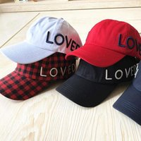 Wholesale New Brand LOVED Baseball Caps Designer Ball Caps Women Fashion Sports Sunshade Hats Lovers Cap