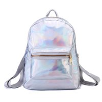 c5142db9b02 Hologram Laser Backpack Female School Bags For Girls Teenagers Rucksack  Travel BookPacks Casual Daypack Back Pack Womens Silver