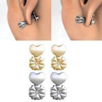 punho de orelha indiano venda por atacado-Brinco Backs Suporte Brinco Elevadores Hipoalergênico Ajusta-se a todos os Brincos Pós Conjunto de 4 Banhados a Ouro 18K Prata Esterlina