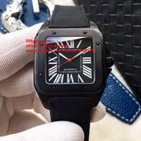 Wholesale Watch Pvd Movement - Luxury Best Edition Watch TF Factory 41mm x 51mm WSSA0006 Black PVD Case Swiss ETA 2824 Movement Automatic Mens Watch Man's Watches