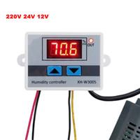 ingrosso interruttore a temperatura controllata 12v-Regolatore di umidità digitale 220V 12V 24V Igrometro Interruttore di controllo umidità 0 ~ 99% RH Igrostato con sensore