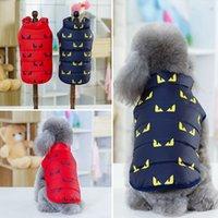 fleece hund kleidung winter groihandel-Mode Hund Hoodies Pet Kleidung Baumwolle Weste Buttons Fleece Winter Warme Hund Bekleidung Teddy Bulldog Schnauzer Bekleidung Großhandel