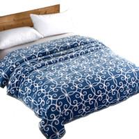 Wholesale baby bedding comforters - Home Bedding Warm Fleece Blanket Super Soft Sofa Sleeping Nap Cover Comforter Baby Bed Plaid Picnic Travel Cobertor Bedsheet
