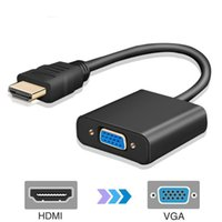 Wholesale video monitor adapter for sale - Group buy High Quality HDMI Male to VGA Female Video Converter Adapter HDMI Cable For Computer PC Laptop Tablet Full HD P HDTV Monitor HDMI To VGA
