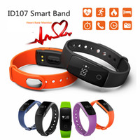 Wholesale purple metal watch - ID107 For Iphone X Smart Bracelet Activity Tracker Smart Watch Bluetooth Smart WristBands With Metal Button Heart Rate Monitor With Package