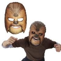 maskenspielzeug zum verkauf großhandel-Heißer Verkauf Kühle Lebendige Sprachmaske Die Kraft Weckt Chewbacca Maske Elektronische Leucht Party Halloween Maske Spielzeug mit Stimme Für Jungen