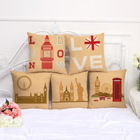 fashion decor pillows wholesale 2018 - Printing Supersoft Cushion Cover Cotton Linen Pillow Case Home Decor Back Cases Simple Bedding Supplies Fashion Polyester Reusable 8my jj