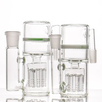 Wholesale glass modern - 8arms Ash Catcher Modern Design white honeycomb ash catchers for water bong glass bong 14-14mm and 18-18mm
