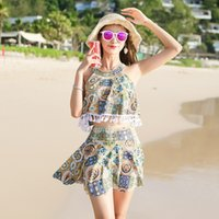 fac9e7cd824 swim skirt xl Canada - Xi Song 2018 New Pattern Fission Swimming Suit Woman  Small Chest