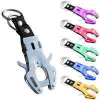 Wholesale wholesale tiger keychain - Aluminum Alloy Tiger Buckle Multi Colors High Strength Backpack Hang Keychain Easy To Use Waterproof Carabiner Durable 2 7at B
