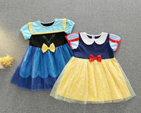 alice wunderland kleider groihandel-New Snow White Prinzessin Mädchen Kleid Alice Wonderland Kinder Halloween Kostüm 2colour A07