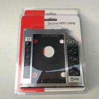 dizüstü bilgisayar sabit diskleri toptan satış-İkinci HDD Caddy 2nd SATA 3.0 Sabit Disk Sürücüsü 2.5