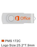 Bulk 50pcs 8GB Printed Custom logo USB 2.0 Flash Drive Metal Swivel Engraved Personalize Name Memory Stick Pen Drive for Computer Macbook