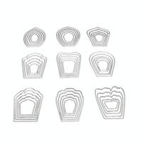 Wholesale flower stencils - Metal Cutting Dies 9 Flowers DIY Scrapbooking Embossing Dies Invitation Cards Photo Album Decor Stencils Template Accessories