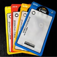 Wholesale hole card - 12*21cm Plastic Zip Lock Cell Phone Case Event Bags With Hang Hole For Mobile Phone Shell Packaging Zipper Bag
