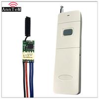 interruptor remoto inalámbrico de 9v al por mayor-Interruptor de control remoto RF inalámbrico 3.7v 5v 9v 12v 433 MHz Mini pequeño circuito de relé Micro Transferencia de línea Módulo de interruptor momentáneo