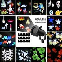 su geçirmez dış mekan projektörü toptan satış-Edison2011 Dekorasyon Lazer Işığı 12 Desen LED Projektör Işık Açık Su Geçirmez Peyzaj Lambası Noel Işık Tatil Partisi için