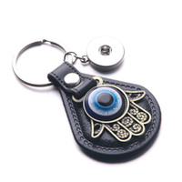 Wholesale buddha car for sale - Group buy 2018 New High quality Buddha palm leather key chain fits mm snap button the key chain car BC002