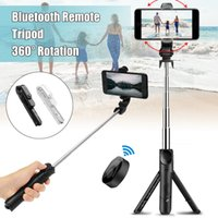 Wholesale remote control selfie stick for sale - Group buy NEW Selfie Stick Tripod Monopod Bluetooth Remote Control Ios Android Clamp with Retail Box High Quality