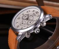altı pim toptan satış-Mont marka izle Yüksek Kaliteli Erkekler İzle Tam fonksiyonlu Altı pin Deluxe İzle 45mm Deri lüks erkek Saatler saat Relogio Saatı
