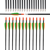 Wholesale bow glasses kid online - Archery Fiberglass Arrows Fixed Points Tips Hunting Shooting Target for Children Kids Youth Recurve Compound Bow Outdoor Sports