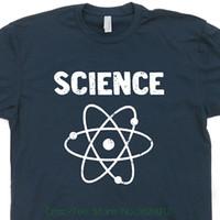ingrosso tè dei capretti dell'annata-Science T Shirt Retro Geek Nerd Vintage Shirts Atom Chimica Biologia Tee The Universe Math Shirtmandude Mens Womens Kids Tees