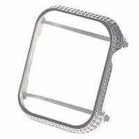 schwarze diamantbar großhandel-New 40mm 44mm Luxury Schutzhülle für Apple Watch Series 4 vergoldet mit Diamantbesatz Roségold Platinschwarz