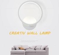 ingrosso lampade per la decorazione del balcone-20 cm 12 W Moderna applique da parete applique a led per camera da letto soggiorno soggiorno balcone decorazione domestica acrilica lampada da parete a led lampada apparecchio