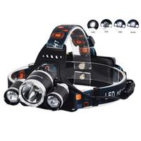 xml t6 bisiklet ışık led toptan satış-YENI 5000 lümen 3x XM-L 3T6 LED bisiklet işık Far el feneri kafa avcılık kamp XML T6 için LED Far