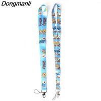 ingrosso cordicella chiave carina-Dongmanli carino Lanyard Key Strap per telefono Autism Cartoon Lanyards ID Badge con portachiavi M2363
