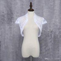 ingrosso decalcomanie di pizzo-New Fancy Wedding Scialle Princess Maniche Bianco Avorio Wedding Jacket Delicate Lace Decal Bolero Bridal Wrap Custom