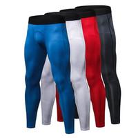 Wholesale jogging sport clothes for men resale online - YEL Men Running Pants For Elastic Sport Workout Training Pants Gym Clothing Fitness Tight Sport Jogging Traouser Men s Leggings