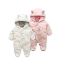 Wholesale newborn baby girl twins resale online - Fashion spring baby coat Lamb Cashmere baby pajamas for newborn costume twins new born baby clothes infant girl clothing