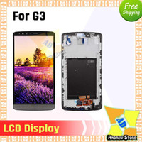 Wholesale screen digitizer for lg g3 resale online - 5pcs Original LCD For LG G3 D850 D851 D855 LCD Display Touch Screen Digitizer Full Assembly with frame free shiping