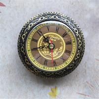 вставить часы оптовых-Горячие Продажи Диаметр 92 мм Золото Кварц Вставить Части Часов Аксессуары для Настенных Часов Механизм DIY Настольные Часы