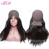 Wholesale cheap human hair wigs online - Cheap Lace Front Wigs Brazilian Virgin Remy Human Hair Wigs Black Color Long Hair One Donor Glueless Wigs Full Cuticle