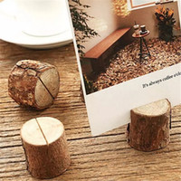 Wholesale Rustic Baby Shower Decorations   Creative Wood Place Card Photo  Number Name Holder For Vintage