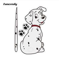 komik yansıtıcı çıkartmalar toptan satış-Tancredy Karikatür Komik Hareketli Kuyruk Dalmaçyalı Köpek Sticker Yansıtıcı Araba Çıkartmaları Araba Styling Arka Cam Silecek Çıkartmaları