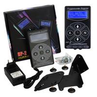 kasırga dijital dövme tedariki toptan satış-Dövme Güç Hurricane HP2 Güç Kaynağı ile Dövme Makineleri Seti Dijital Çift LCD Ekran Güç Fişi