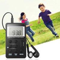 auricular estéreo receptor al por mayor-HRD - 103 Mini Walkman Radio FM / AM Stereo DSP Receptor Programación Tereo Radio Steps Ajustable Portátil con Auriculares