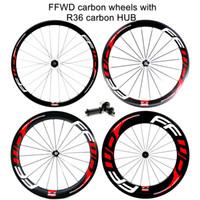 Wholesale 88mm clincher wheel set for sale - Outlet R36 carbon hub mm Clincher with FFWD F4R F5R F6R F9R paint C full carbon road bike wheels wheelset