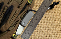 Wholesale tactical folding knives screwdriver for sale - Group buy mini folding knives d2 knife TC4 Titanium handle outdoor gear pocket pocket knives bottle opener screwdriver