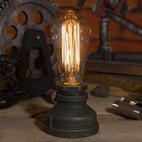ingrosso lampade da tavolo in metallo d'epoca-Illuminazione Loft E27 Vintage Industrial Metal Edison Lampade da tavolo Steampunk Base in ferro battuto Lampade da tavolo antiche Luci Lampade notturne