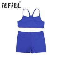 Wholesale Tank Tops For Girls Kids - Infant Kids Chilren Girls Tankini Tank Top with Bottoms for Sports Gym Workout Swimming Bathing and Holiday Clothes Outfits Suit